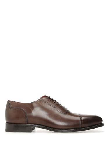Barrett %100 Deri Bağcıklı Klasik Ayakkabı Kahve